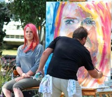 Talented painter Randal Wiebe will create a large canvas painting for one lucky music festival guest
