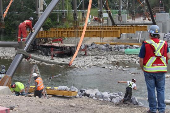 Weadick Bridge - close up of workers