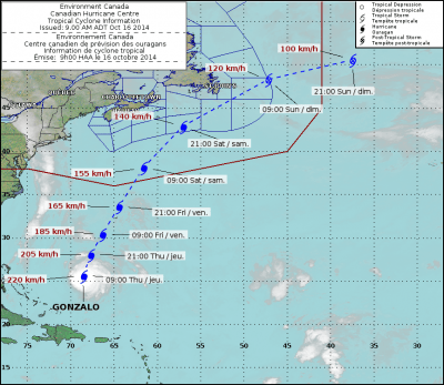 Gonzalo tracking map