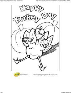 Happy Turkey Day Coloring Page _ crayola