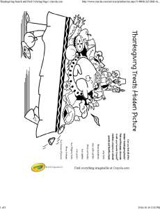 Thanksgiving Search and Find Coloring Page _ crayola