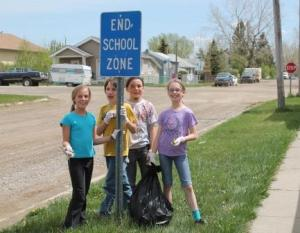 Blackie students clean up the community