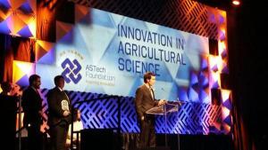 Remi Schmaltz, Garth Donald, Tasha Schmaltz at 2014 ASTech awards.