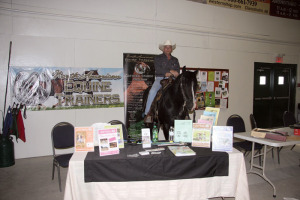 Ernie Knibb atop Hot Rod at the Golden Age Heritage Horse show in Claresholm in August 2014. Knibb's school for horse trainers is slated to open next spring. Photo: Supplied
