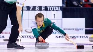 Edmonton skip Brendan Bottcher (Photo: Anil Mungal) via thegrandslamofcurling.com