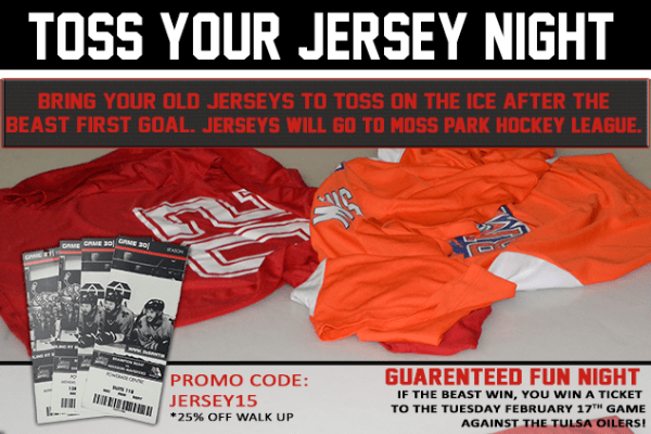 Beasts Toss Your Jersey Night