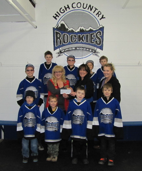 Foothills Lions Club Donation to High Country Hockey