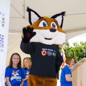 Nanguz, the fox, is the Games mascot