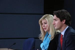 Eve Adams, MP with Justin Trudeau
