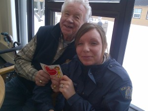 Left to Right - Ray LaFrance and Cst. Yelena Avoine enjoying a Valentine card