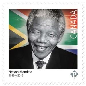Nelson Mandela stamp - Canada Post