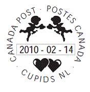 Valentine cancellation stamp 1