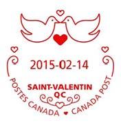 Valentine cancellation stamp 5