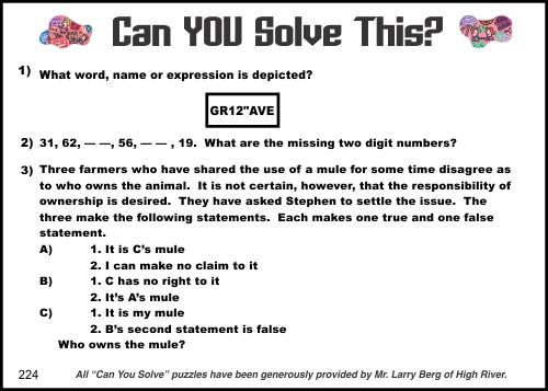2015-03-14 Creative Logic Puzzle week 224