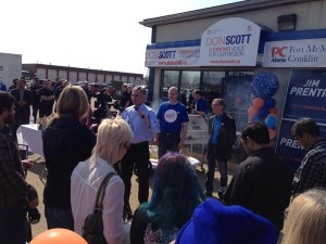 Prentice and Don Scott in Ft McMurray