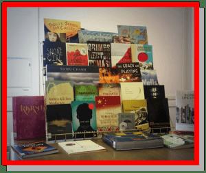 Travelling Alberta Books display