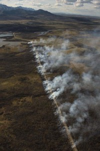 April 21: widening the fire guard along the Chief Mountain Highway