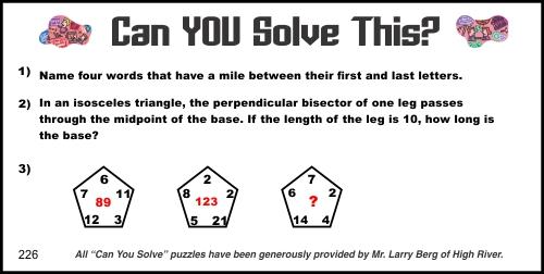 2015-05-09 Creative Logic Puzzle week 226