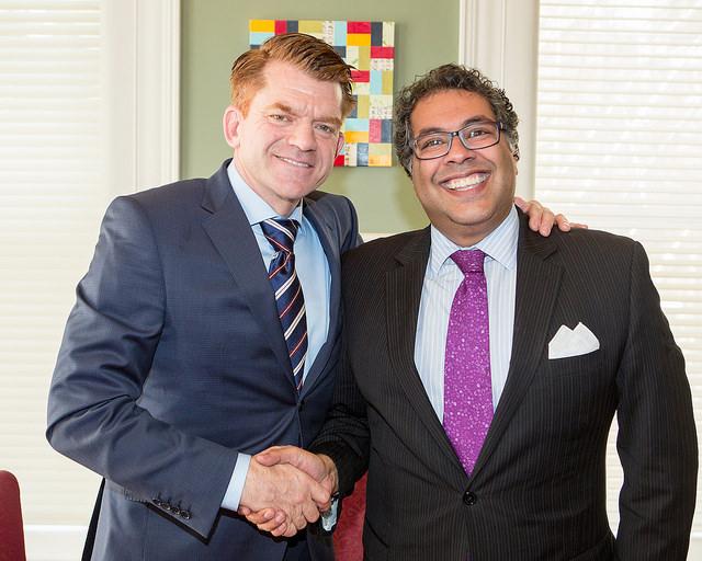 Brian Jean and Mayor Nenshi