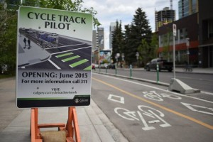 Calgary Cycle Track Pilot Project