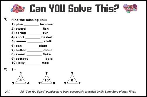 2015-09-05 Creative Logic Puzzle week 230