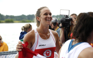 Carling Zeeman after winning the women's single scull at the Pan Am Games on July 14, 2015.