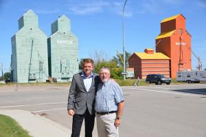 In Nanton with Mayor Rick Everett