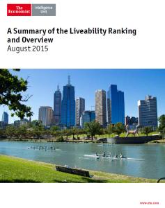 EIU Liveability Report 2015