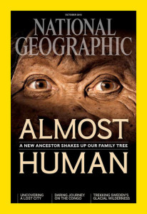 "The October issue of National Geographic magazine describes the newly identified Homo naledi species, which shares traits with both Homo sapiens and our earlier ancestors, as ""Almost human.""NATIONAL GEOGRAPHIC"