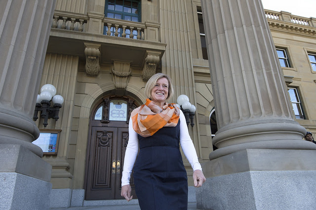 AB Legislature main doors - Premier Notley