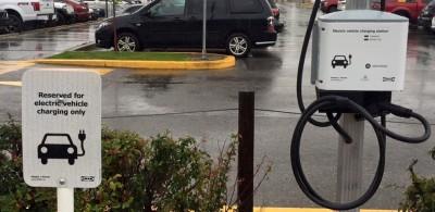 EV charging at Calgary Ikea