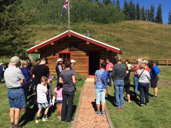 Guests learn about the North-West Mounted Police outpost at the OH Ranch