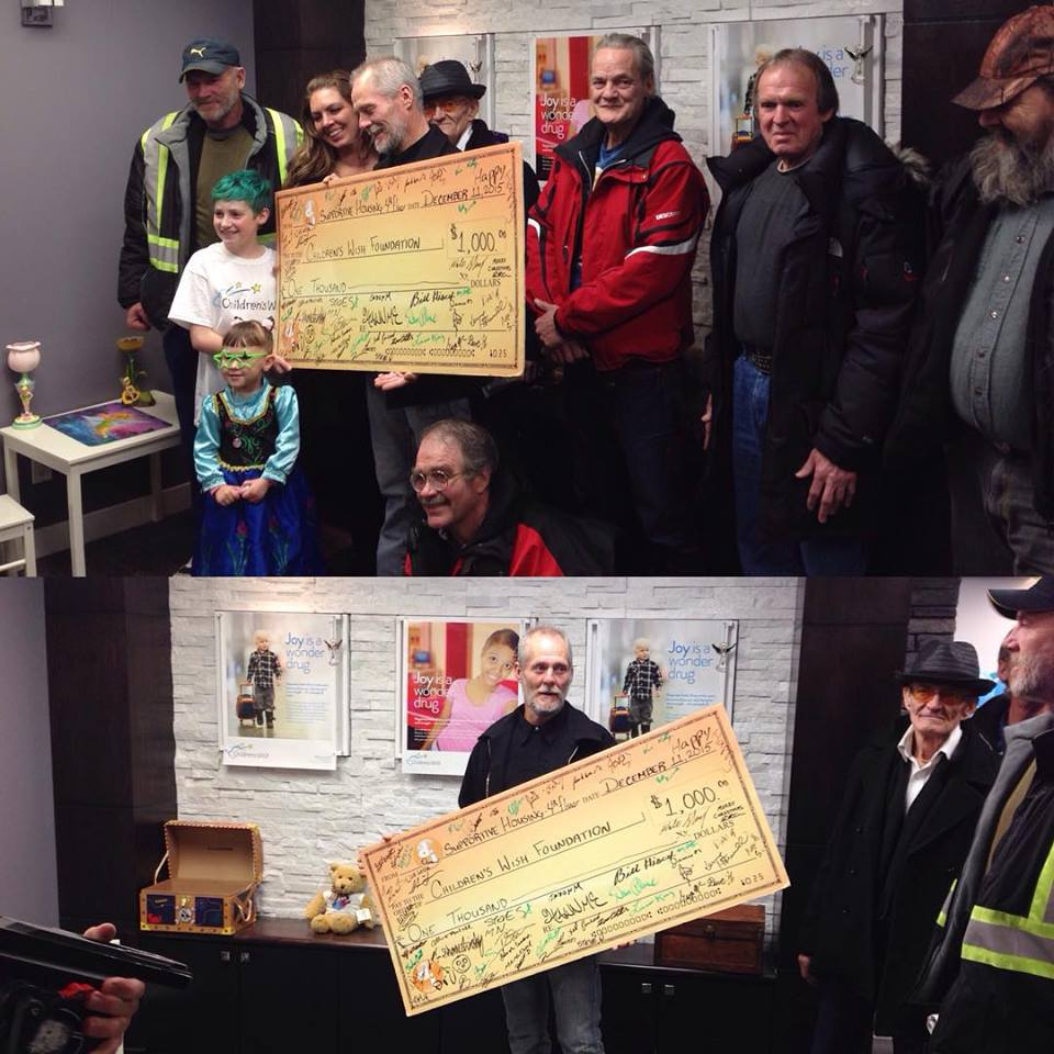 Drop-In Centre donates to childrens wish