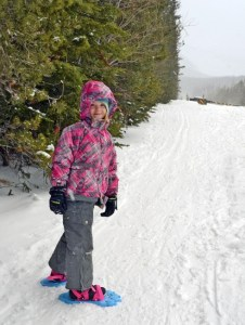 Snowshoeing, fun for all ages.