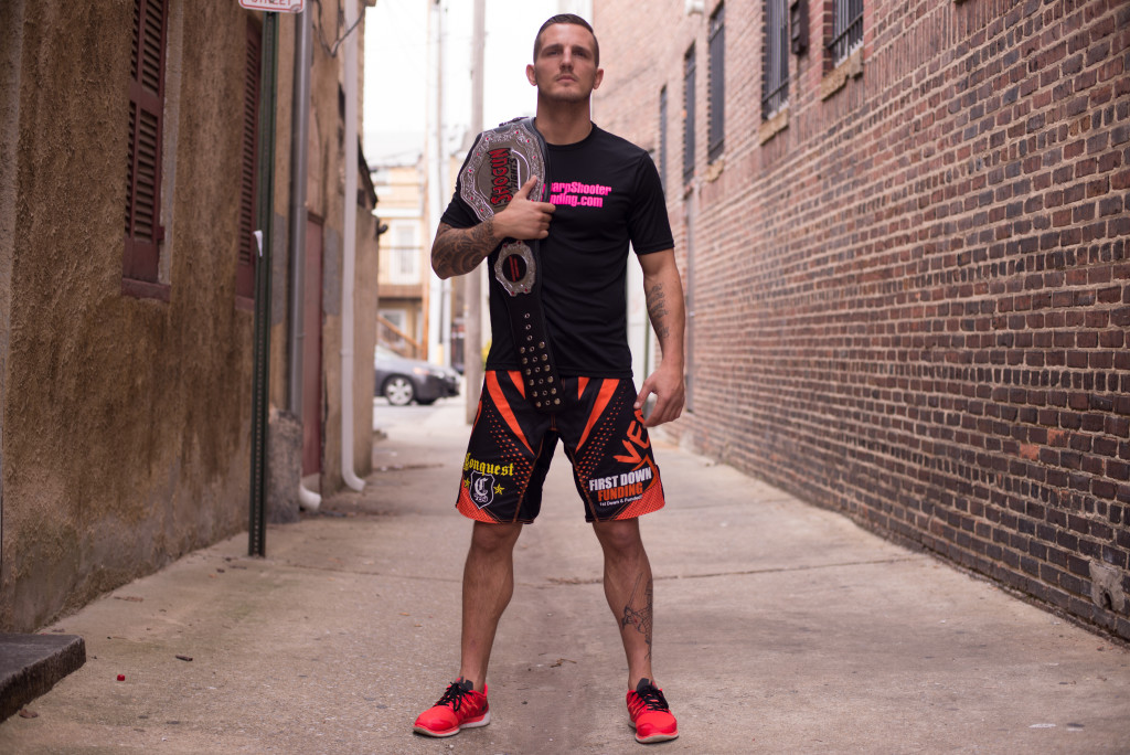 """First Down Funding and Sharp Shooter Funding's very own Micah """"See Me"""" Terrill. Shogun Fights Champion."""
