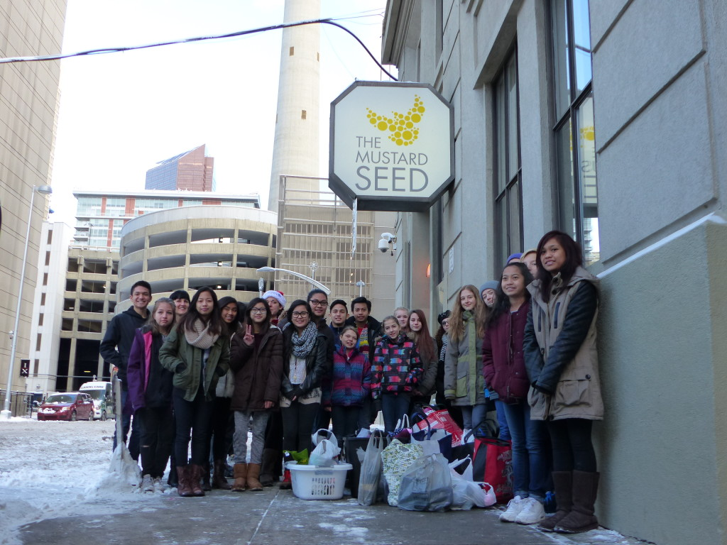 Students from St. Albert the Great School