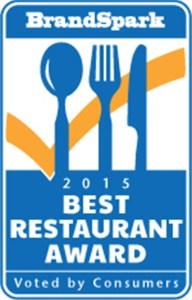 2015 Best Restaurant Award (CNW Group/BrandSpark International)