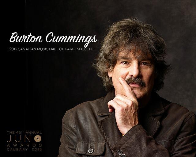 Burton Cummings Juno 2016