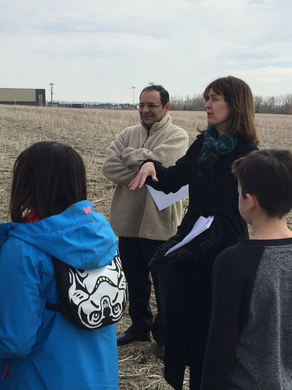 Gr 7 students at new K-9 school site