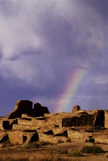 Regular rainbow over Chaco Canyon, via rontayyab.com