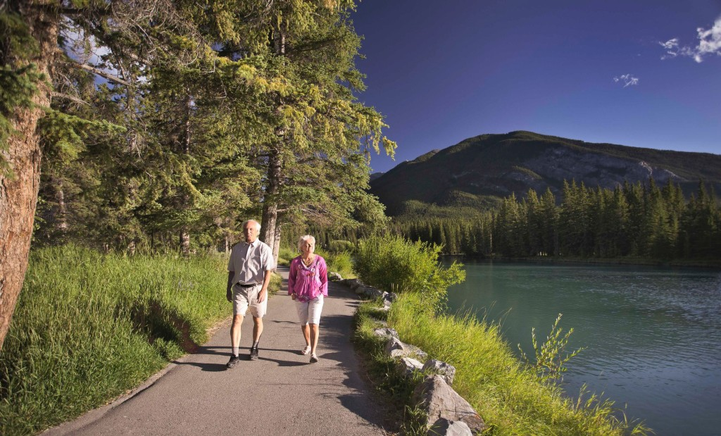 Path along the Bow River in Banff