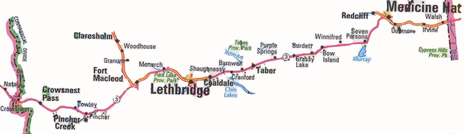 Highway 3 map