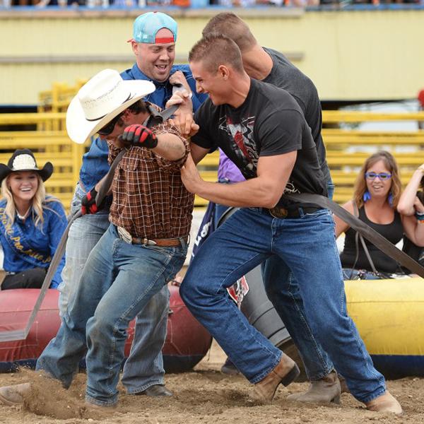 Calgary-Police-Rodeo-cowboys-goofing-around