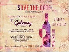 Save the Date to a Pouring for a Purpose Event