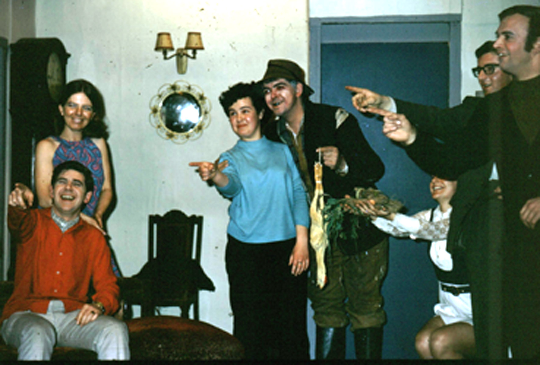 Some of the cast of the Gateway Theatre in a performance of 'The Whip Hand.'