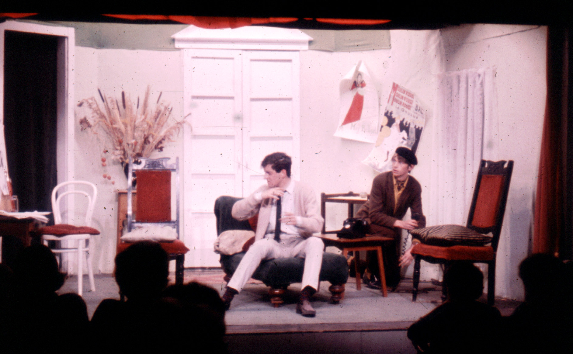 A scene from 'Figure of Fun' performed in the original Gateway Theatre and this picture shows just how close the audience were to the stage.