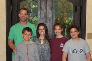Drew & Beth Waits with their children Caleb, Sydney, and preston
