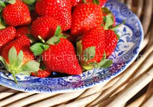 Strawberry Cream Biscuit / Cookie Baskets Recipe | Gather and Graze