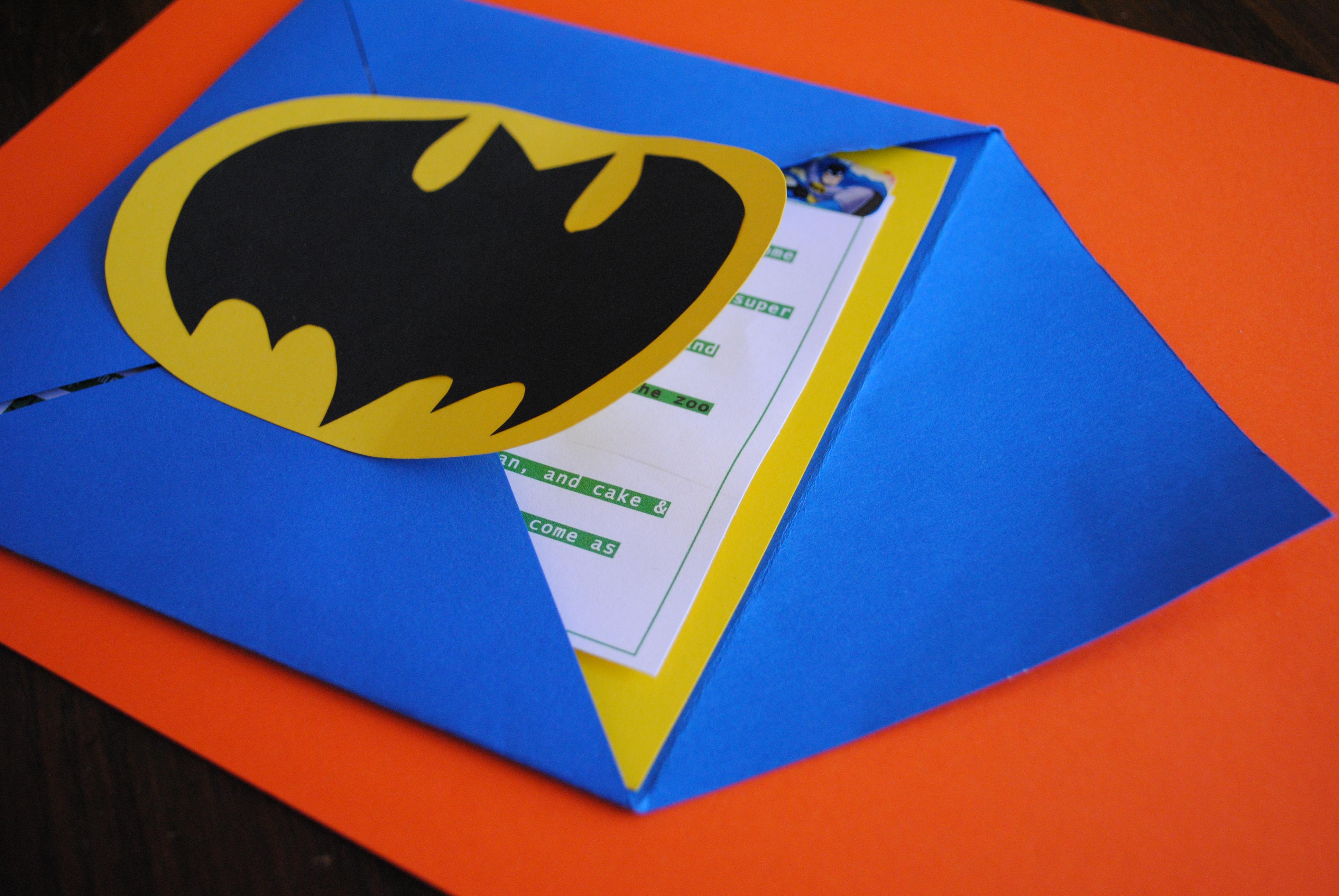 batman birthday party invitations