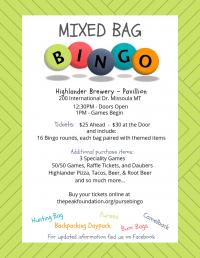 Mixed Bag Bingo 05 19 2019 Missoula Montana Highlander Beer Pavillion Special Events Event Missoulaevents
